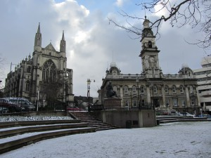 St_Paul's_Cathedral and Town Hall, Dunedin New Zealand